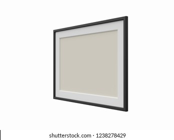 Picture frame with passepartout. 3D model