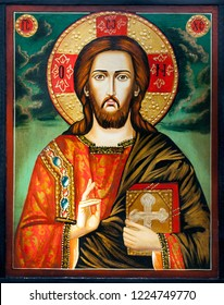 Picture of a hand-painted Orthodox icon