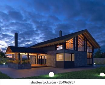 Scandinavian Modern House Exterior Images Stock Photos Vectors