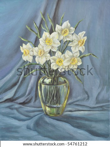 Picture Oil Paints On Canvas Glass Stock Illustration 54761212