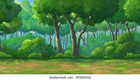 Picture painted in deep forest