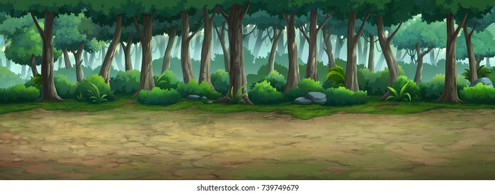 Picture painted in the forest at daytime