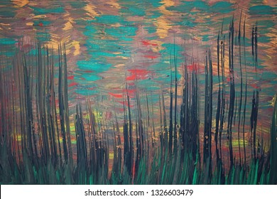 """Picture """"Tall grass against the evening sky"""""""