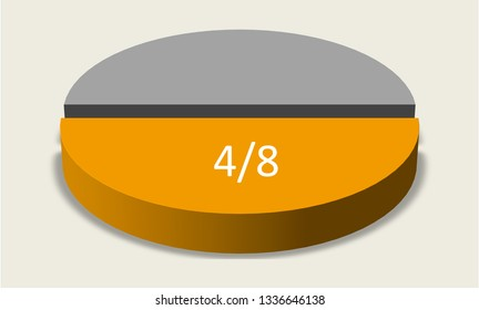 Pie chart four eighths