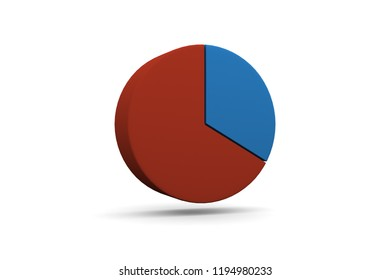 Pie Chart, Graph, 33%, 1/3, 3D Illustration