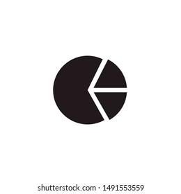 pie chart icon logo design template