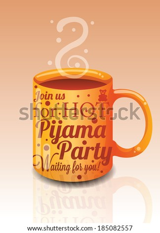 Pijama Party Invitation Stock Illustration 185082557 Shutterstock