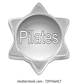 Pilates button - 3D illustration