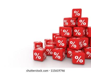 pile of 3d discount cubes