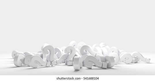pile of questions marks 3d render
