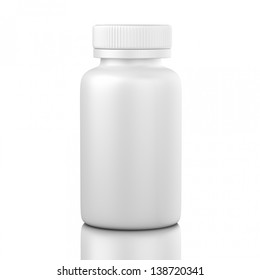 pill box unlabeled for medicine isolated
