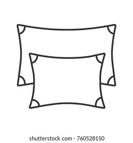 Pillows linear icon. Thin line illustration. Contour symbol. Raster isolated outline drawing