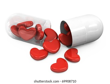 pills laid out as a heart shape