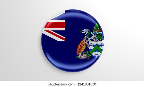 Pin badge with flag 3D illustration. Flag of Ascension Island