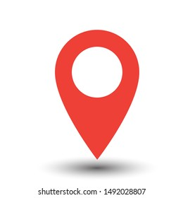 Pin icon raster. Location icon. Map pointer icon