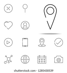 pin icon. web, minimalistic icons universal set for web and mobile