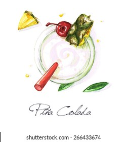 Pina Colada - Watercolor Food Collection