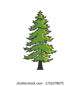 pine tree design with a blend of several colors.