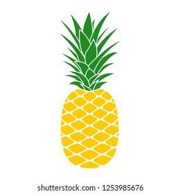 Pineapple icon. Tropical fruit. Ananas print.