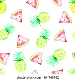 pineapple and watermelon texture- pattern