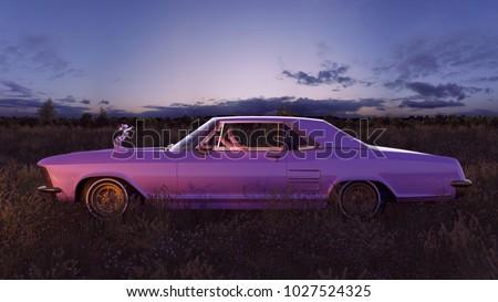 muscle car inside