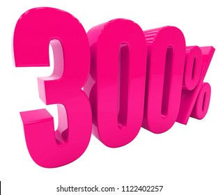 Pink 300% Percent Discount Sign, Sale Up to 300%, 300% Sale, Special Offer, Money Smarts Sticker,  Save On 300% Icon, % Off Tag, Budget-Friendly, Cost-Cutting Tricks, Low-Cost, Low-Priced, Reduce Cost