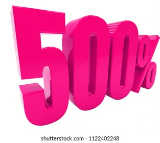 Pink 500% Percent Discount Sign, Sale Up to 500%, 500% Sale, Special Offer, Money Smarts Sticker,  Save On 500% Icon, % Off Tag, Budget-Friendly, Cost-Cutting Tricks, Low-Cost, Low-Priced, Reduce Cost