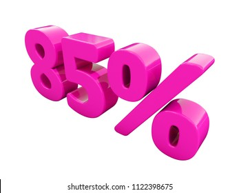 Pink 85% Percent Discount Sign, Sale Up to 85%, 85% Sale, Special Offer, Money Smarts Sticker,  Save On 85% Icon, % Off Tag, Budget-Friendly, Cost-Cutting Tricks, Low-Cost, Low-Priced, Reduce Cost