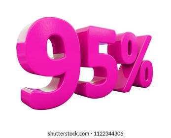 Pink 95% Percent Discount Sign, Sale Up to 95%, 95% Sale, Special Offer, Money Smarts Sticker,  Save On 95% Icon, % Off Tag, Budget-Friendly, Cost-Cutting Tricks, Low-Cost, Low-Priced, Reduce Cost