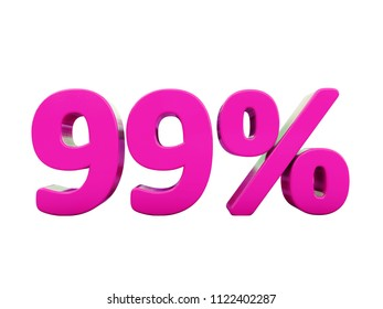 Pink 99% Percent Discount Sign, Sale Up to 99%, 99% Sale, Special Offer, Money Smarts Sticker,  Save On 99% Icon, % Off Tag, Budget-Friendly, Cost-Cutting Tricks, Low-Cost, Low-Priced, Reduce Cost