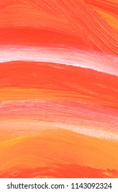 Pink Abstract acrylic painting for use as background, texture, design element. Modern art with brush stroke texture