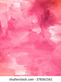 Pink acrylic paint texture. Abstract background for editing and design