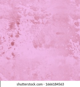 Pink aged newspaper halftone abstract dotted background and texture