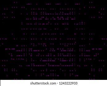 pink ASCII Background