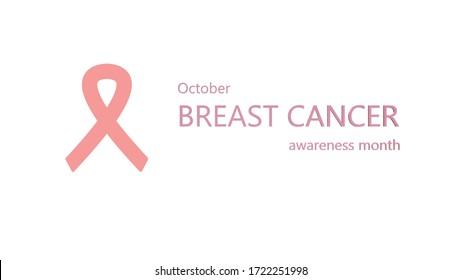 Pink awareness ribbon. World Breast Cancer Awareness Day. Breast Cancer Banner. October awareness organizations.