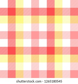 Pink baby color plaid seamless pattern.