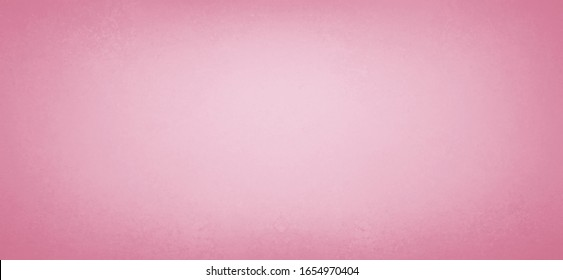Pink background with old vintage texture borders and soft white center for valentines day backgrounds, pretty pastel color paper in simple blurred panoramic background