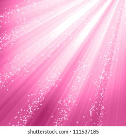 Pink background with smooth highlights and shades