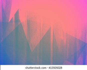 Pink and blue triangle abstract background