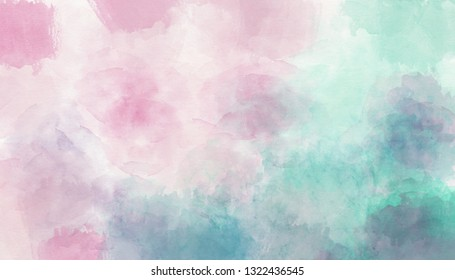 Pink blue watercolor background