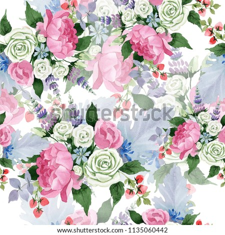 Royalty Free Stock Illustration Of Pink Bouquet Flowers Floral