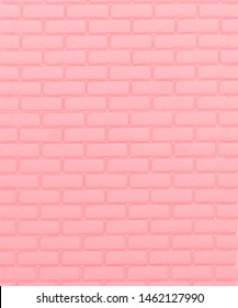 Pink brick tiles wall background. 3D illustration