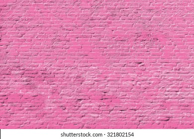 Pink brick wall - National flag on Brick wall