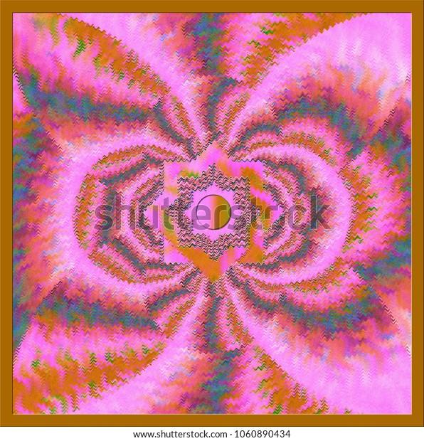 pink and brown wavy kaleidoscope