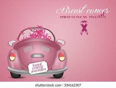 Pink car for breast cancer prevention