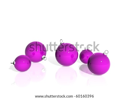 pink christmas ornaments - Pink Christmas Ornaments