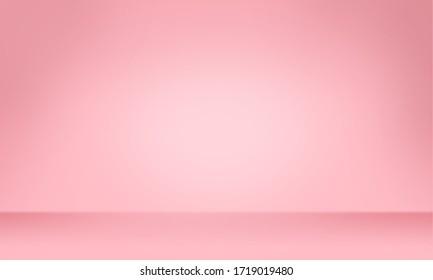 Pink color background, Color gradation, Pink wallpaper. 3D rendering.