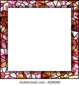 pink and cream mosaic tile picture frame