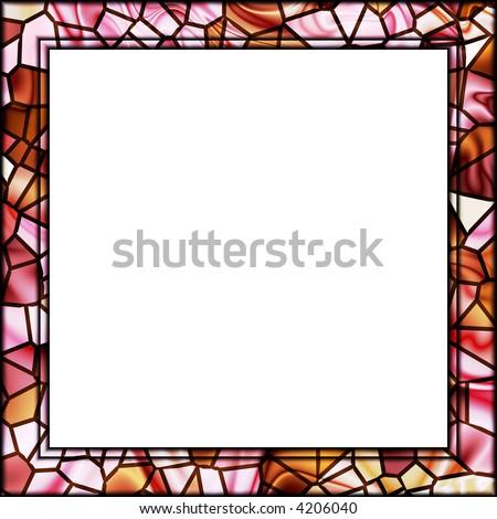 Pink Cream Mosaic Tile Picture Frame Stock Illustration 4206040 ...