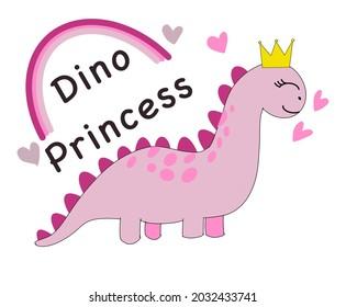 Pink dinosaur princess.little girl birthday party.